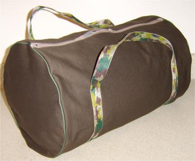 Шьем спортивную сумку.  Выкройка спортивной сумки.
